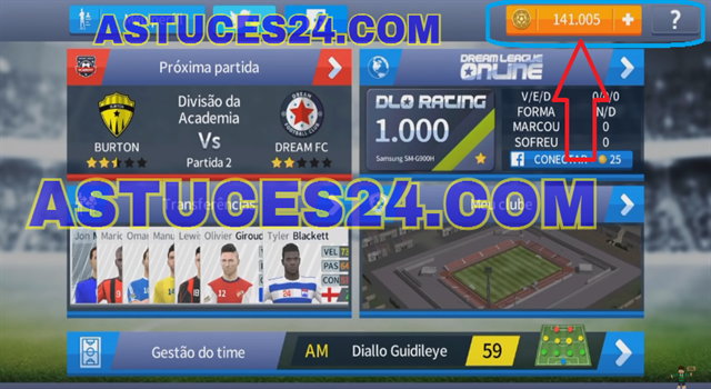 Dream League Soccer 2017 Argent illimite