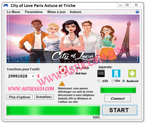 City-of-Love-Paris-Astuce-Energie-Gratuite-et-illimitée-Screenshot